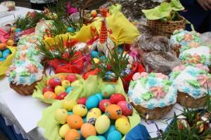 Освящение пасок, пасхальных куличей и яиц