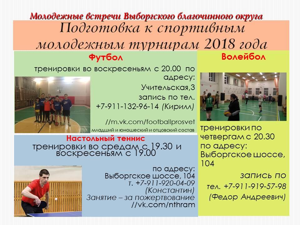 Спортивные напавления Выборгского благочинного округа_12_2017